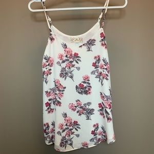 Tops - Floral Tank Blouse
